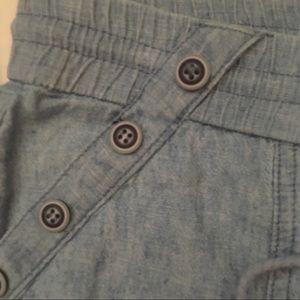 Rewind Shorts - Linen rayon chambray short shorts